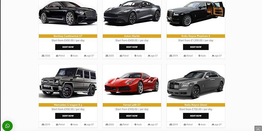 MBS : Luxury Cars rentals(London)